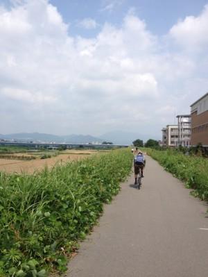 八幡木津自転車道往路